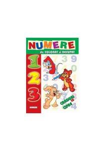 Numere de colorat și decupat