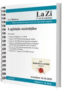 Legislația societăților. Actualizat la 16.10.2020 (ediție spiralată)
