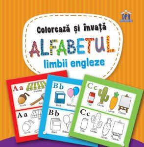 Colorează și învață alfabetul limbii engleze